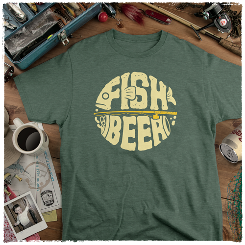 T-Shirt-Heather-Forest-Image-Main-Fish-Beer-AP-0064-HF-MAIN
