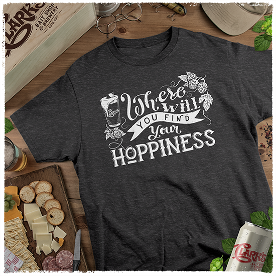 T-Shirt-Black-Heather-Image-Front-Main-Find-Your-Hoppiness-AP-0010-BH-MAIN
